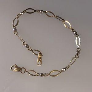 14k - 2- Toned link bracelet